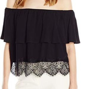 LAmade | cropped ruffle off the shoulder top | XS